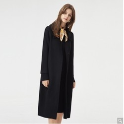 Eifini 伊芙丽 1AB970641D  女士中长款双面呢大衣毛呢