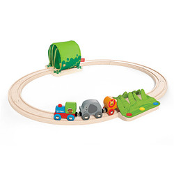 Hape  火车轨道玩具 丛林宝贝轨道车 *2件