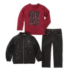 Calvin Klein 男童夹克套装 3件套 *2件
