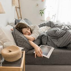 素风家纺 色织水洗全棉四件套 床笠款 1.5米
