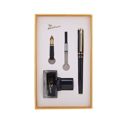 pimio 毕加索 709 钢笔 亮黑金夹 0.5mm+1.0mm双笔头