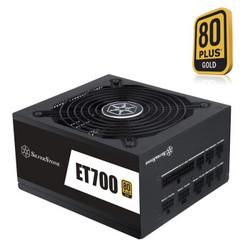 SILVER STONE 银欣 ET700-MG 额定700W 电源(80PLUS金牌/全模组/五年质保)