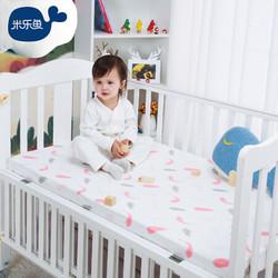 米樂魚 兒童床單  羽毛粉 90X150cm +湊單品