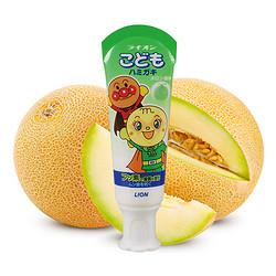 LION 狮王 面包超人低氟防蛀儿童护理牙膏 密瓜味 40g *3件
