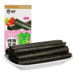 卡比兽&金柳 休闲零食 烤海苔卷   即食海苔紫菜 草莓味 4g*8条 盒装