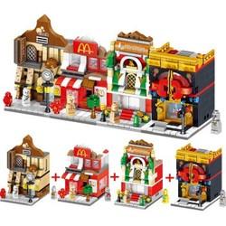汇奇宝 迷你街景系列 城市商业街-随机单盒-170+颗粒