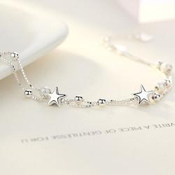 银千惠 SL0160A 女士纯银星星手链
