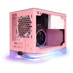 IN WIN 迎廣 A1Plus 粉色限定版 機箱(標配650W電源、2把RGB風扇)