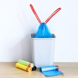 居居家 自动收口手提点断式穿绳垃圾袋 5卷
