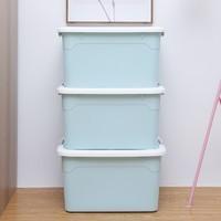 佳佰 加厚家用收纳箱 蓝色 55L 三个装 +凑单品