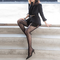LOVEBOX T190089 繁花系列 女士連褲襪 2雙裝