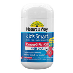 Nature\'s Way 佳思敏 儿童DHA鱼油软胶囊 草莓味 50粒 *3件