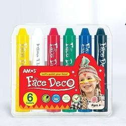 AMOS 阿摩司 可水洗人体彩绘笔 6色盒装