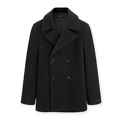 太平鸟男装 BWAA84356 男士短款羊毛呢大衣
