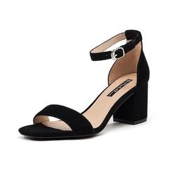ST&SAT SS92115407 女士一字式扣带高跟凉鞋 *2件