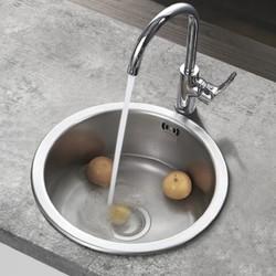 Franke 弗兰卡 LUX610-05A 304不锈钢圆形水槽 裸槽 44×44cm