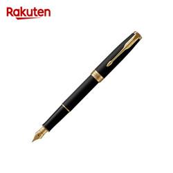 PARKER 派克 卓尔系列 钢杆磨砂墨水笔 18K金笔尖 钢笔 磨砂黑GT F 吸墨器 *4件
