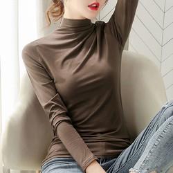 莫代尔 WPM-QY636-5 女士薄款半高领针织衫