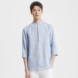 mecity 52005240 男士七分袖薄款衬衫