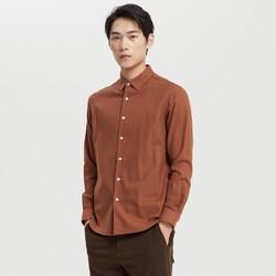 ME&CITY 52722480 纯棉磨毛长袖衬衫