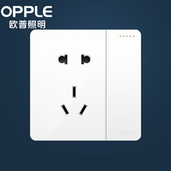 OPPLE 欧普照明 K12系列-白色 开关插座面板 一开单+五孔