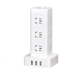 DELIXI 德力西 H-DK12X3UG USB智能立式插排 12位总控 1.7m