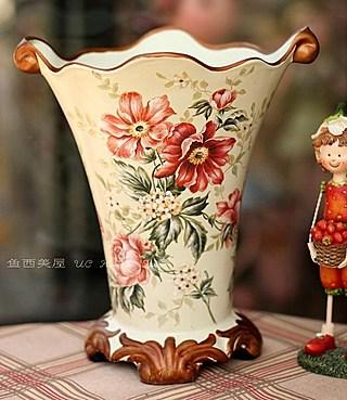 欧式红色蔷薇花陶瓷花瓶花器结婚礼品  【淘宝网】 卖疯了!