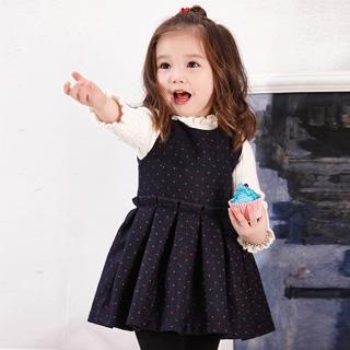 韩版女童毛呢连衣裙