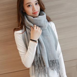 韩版针织毛线围巾