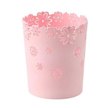 欧式镂空花纹塑料垃圾桶