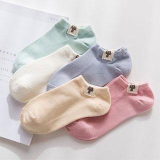 薄款纯棉女士短袜5双