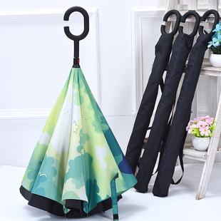 新三代双层免持式长柄伞