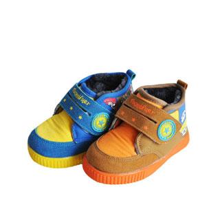 儿童羊羔绒棉鞋保暖防