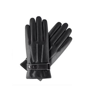 全掌触屏pu加绒保暖手套