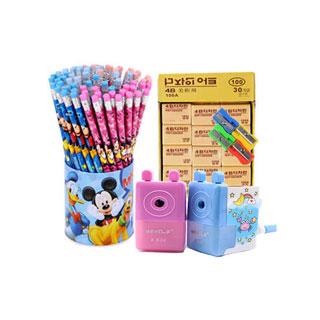 50个铅笔/30块橡皮/85件组合