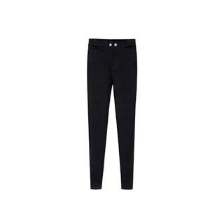 韩国秋冬季黑色加绒魔术裤-九块邮,比购网九块九包邮会员独享,