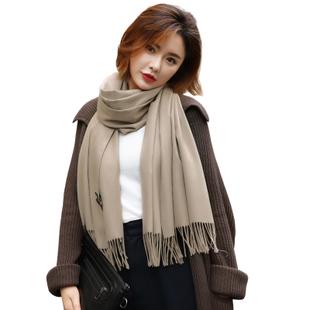 冬季纯色仿羊绒围巾
