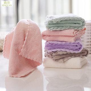 儿童毛巾宝宝口水巾4条