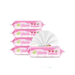 新生儿宝宝湿巾80抽*5包