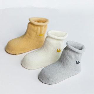 纯棉加厚婴儿袜3双