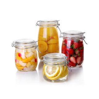 玻璃密封瓶子储物罐