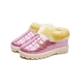 春草冬季包跟厚底棉拖鞋