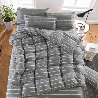 简约床上四件套送枕芯2个