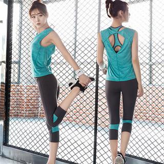 春夏健身服女套装三件套瑜伽服