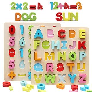 宝宝数字字母拼图积木