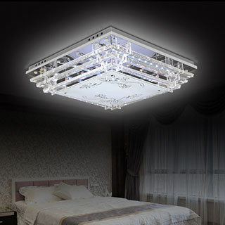 大气led吸顶灯客厅灯长方形水晶灯卧室