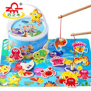 钓鱼玩具磁性木质儿童