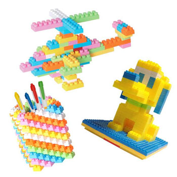 买3送1 儿童拼装积木90片