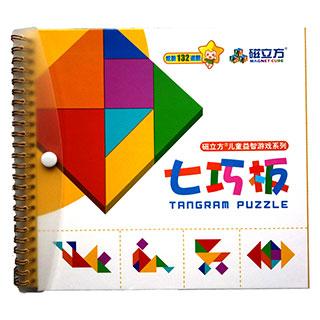 大号磁性七巧板智力拼图教学专用教具