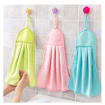 3条装糖果色柔软擦手巾